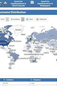 Βρείτε τους συνεπώνυμούς σας σε όλο τον κόσμο: Πόσο κοινό είναι το επίθετό σας σε άλλες χώρες