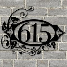 Sea Biscuit Metal Designs Wall Address Plaque Customize: Yes Metal House Numbers, House Number Signs, Outdoor Metal Wall Decor, Home Signs, Home Address Signs, Address Plaque, Metal Projects, Elegant Homes, Porch Decorating
