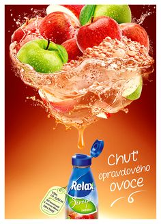Relax Sirup on Behance Ads Creative, Creative Posters, Creative Advertising, Advertising Design, Food Graphic Design, Graphic Design Posters, Ad Design, Juice Ad, Juice Plus