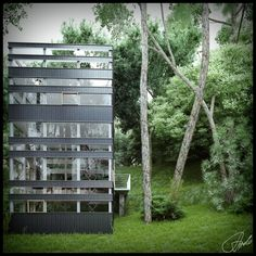 House Glass Forest, so modern but somehow still manages to fit into its environment.