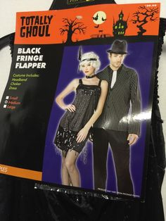 Totally Ghoul Ladies Flapper Fringe Costume Size Medium Halloween Renaissance | eBay