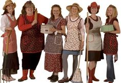 """We consider our one-size-fits-all (4–24) Farmgirl Apron essential gear for every farm chick, even city chicks. In fact, we love the design and fit of this everyday apron so much, we got busy and gave it """"gussy-up"""" potential by including some dainty embroidery designs to go with it."""