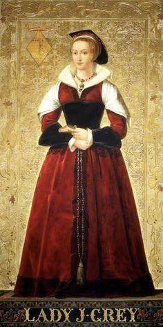 Lady Jane Grey. By Richard Burchett. Oil on panel, 1850's.