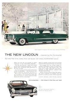 1958 Lincoln Continental Ad