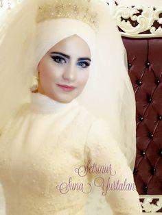 Setr-i Nur Moda Tasarım & Tesettür Gelin Başı Tasarım Giyim Bridal Hijab, Hijab Niqab, Modest Wedding, Party Dresses, Muslim, Bridesmaids, Middle, Fashion, Tween Party Dresses