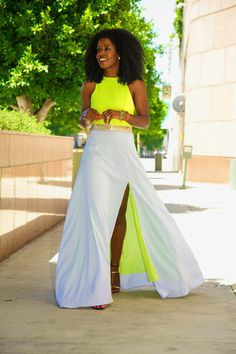 Yellow and white maxi Aeropostale, Look 2018, Style Pantry, Nordstrom, Fashion Beauty, Womens Fashion, Look Chic, Looks Cool, African Fashion