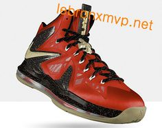 best authentic da5b6 29520 Credit guarantee that all pictures in - kind shooting, please rest assured  to buy Nike LeBron X PS Elite Bright Crimson Metallic Gold Black