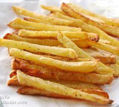 """Receta de patatas """"fritas"""" al horno:"""