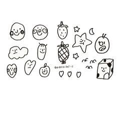 Mini Drawings, Small Drawings, Easy Drawings, Stick N Poke Tattoo, Stick And Poke, Doodle Tattoo, Doodle Art, Mini Tattoos, Cute Tattoos