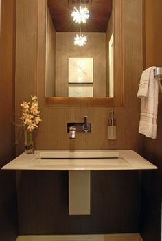 Carla Bast Interior Design Contemporary Powder Room