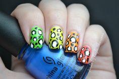Nails by Kayla Shevonne: Rainbow Leopard Skittles (à la Chalkboard Nails)