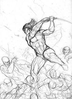 Amazing Frank Cho Sketch