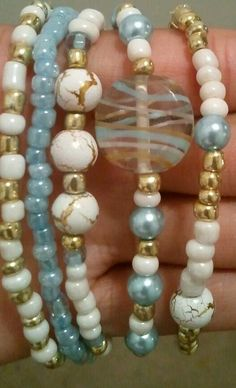 Goddess Skies Beaded Bracelets by RandRsWristCandy on Etsy, $5.00