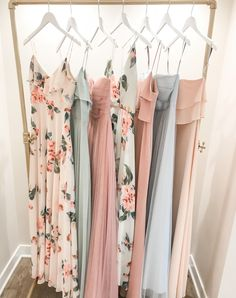 Mix and Match inspiration! Jenny Yoo Bridesmaids, various mix n match long luxe chiffon styles in a shades of blue and blush / pink. These styles feature unique flutter sleeve details, v-necklines, convertible straps and high halter necklines! These mismatched modern and boho bridal party dresses would be stunning for a spring or summer wedding. #summerweddingdresses Summer Bridesmaid Dresses, Mismatched Bridesmaid Dresses, Bridal Party Dresses, Wedding Dresses, Dress Party, Wedding Bridesmaids, Bridesmaid Outfit, Bridal Parties, Bridal Gowns
