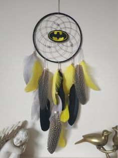 Batman Gift Dreamcatchers Batman decor Dream catcher fun gift for kids, batman logo Made with attention and love this dream catcher brings its owners good dreams and positive energy. This beautiful dream catcher is the perfect eye-catching piece you need for your home. It also makes an amazing housewarming or birthday gift for loved ones. Beautiful Dream Catchers, Dream Catcher Boho, You Are My Superhero, Handmade Shop, Handmade Items, Kids Batman, Batman Gifts, Best Boyfriend Gifts, Batman Logo