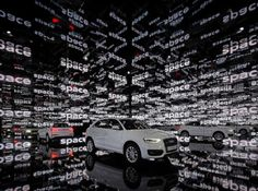 Audi by BLACKx. The outdoor presentation of the Audi in Barcelona. Exhibition Display, Exhibition Space, Museum Exhibition, Food Design, Event Design, Audi Q3, Kreative Jobs, Bmw Serie 3, Showroom Design