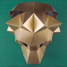 nice photo instructions show how to fold an origami jumping frog. looks easy enough for kids! 3d Paper Crafts, Paper Toys, Diy Paper, Low Poly, Animal Masks, Animal Heads, Choses Cool, Instruções Origami, Lion Mask