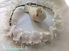 BRIDAL Wedding CROWN Silk Flower Bridal Crown by ArkSouthernBelle