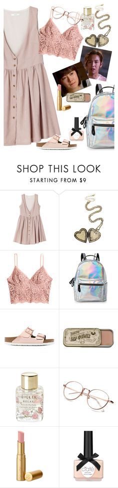 """""""after the mystery was solved"""" by elliewriter ❤ liked on Polyvore featuring Hot Topic, H&M, IMoshion, Birkenstock, Lollia and Ciaté"""