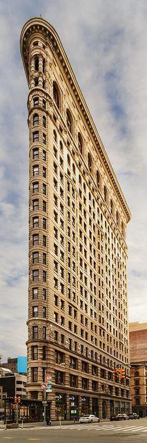 The iconic Flatiron Building in New York.