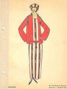 Date: 1922 Description: Serge suit with braiding
