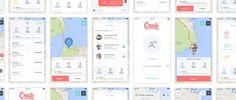 Clean Map App Design Concept