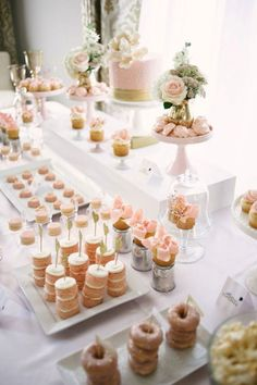 Delicious and Delightful Dessert Displays   OneWed