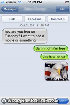 ahh..wrong number texts :D