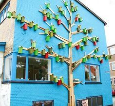 #Recycling trash into birdhouses