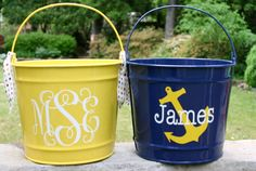 Personalized Bucket  10 quart Great by happythoughtsgifts on Etsy, $26.00