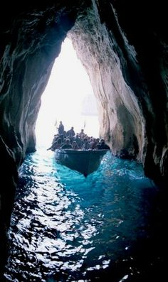 Entering The Blue Grotto, Capri, Italy..I  Have done this, its one of he most beautiful places..✜❤✿ڿڰۣ ✯ nyrockphotogirl ✯2013