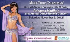 We invite you to shop with Dahlal during the 21st Annual Dance Benefit Concert presented by Princess Madiha. We'll be vending from 9am until 10:30pm at the Farmington Hills Manor in Farmington Hills, Michigan. This is a great belly dance workshop and concert that benefits St. Jude Children's Research Hospital and we are ecstatic to be part of such a philanthropic event! http://www.dahlal.com/show-schedule/