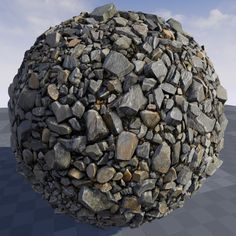 Texture of stone debris in Unreal Engine 4.9, Crazy Textures on ArtStation at https://www.artstation.com/artwork/QxVV8