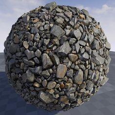 Texture of stone debris in Unreal Engine 4.9, Crazy Textures on ArtStation at https://www.artstation.com/artwork/QxVV8