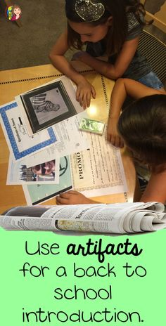 This is a really neat idea for the first day of school in your history class. Use artifacts that tell your own personal story! Your students will look at real primary sources in this great back to school activity!