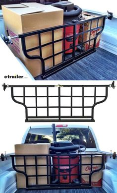 Keep the gear in your truck bed snugly secured and organized with this adjustable truck bed gate. This gate mounts to your side rails with the included brackets. Just position the gate where you want it and - using the threaded handles - telescope the support rod out until both brackets are snug against your bed rails. The mounting brackets are vinyl coated to provide excellent grip and prevent scratches on your truck's finish.