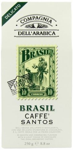Compagnia Dell'Arabica Brasil Kaffee Santos volles samtiges Aroma mit schokoladiger Abtönung, 1er Pack (1 x 250 g) Compagnia Dell'Arabica,http://www.amazon.de/dp/B00460SV6K/ref=cm_sw_r_pi_dp_0brDtb1GEWZGT0SQ