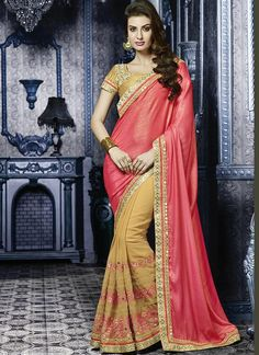 Precious Crepe Silk Patch Border Work Designer Saree