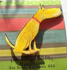 Comfort Colors Artisan Cloth Yellow Dog Pin