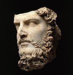 ROMAN MARBLE PORTRAIT OF THE CO-EMPEROR LUCIUS VERUS, MID-IMPERIAL, ANTONINE, 161–169 AD