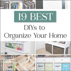 Organize your home this year by creating the perfect places for all things to live. These 19 DIYs include amazing toy storage ideas, kitchen organization projects, ways to organize your clothes and rooms, and more! Diy Kitchen Storage, Toy Storage, Storage Ideas, Organised Kitchen Diy, Diy Clothes Storage, Kitchen Cleaning, Woodworking Quotes, Woodworking Tools, Woodworking Magazine