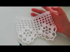 Çeyizlik çarşaf eteği havlu yapılışı&crochet - YouTube Crochet Borders, Crochet Patterns, Sewing Crafts, Diy Crafts, Fillet Crochet, Crochet Table Runner, Irish Lace, Flower Applique, Crochet Videos