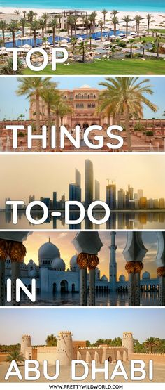 Top Tourist Attractions and Things to do in Abu Dhabi (U. Tourist Places, Tourist Spots, Middle East Destinations, Travel Destinations, Abu Dhabi, Asia Travel, Eastern Travel, Dubai Travel, Wanderlust Travel