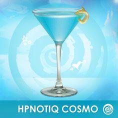 Time for a drink! Hpnotiq Cosmo: Hpnotiq, Citrus Vodka, Splash of White Cranberry Juice by maura Champagne Drinks, Blue Drinks, Vodka Cocktails, Alcoholic Drinks, Juice Drinks, Beverages, Mixed Drinks, Yummy Drinks, Peach Vodka
