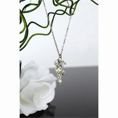 Gorgeous Crystal Gardenia necklace from the makers of Woodstock Chimes ($32.95). Matching earrings also available.