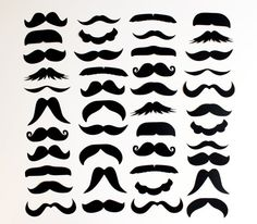 mustache templates for photobooth- Couldn't help it. She needs a new moustache Moustaches, Mustache Template, Hipster Mustache, Moustache Party, Diy Photo Booth Props, Creation Couture, Fiesta Party, Silhouette Cameo, Techno