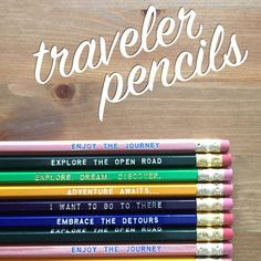 Tell Your Travel Tales ~ Travel Inspired Pencil 12 Pack