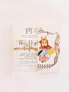 Fall postcard wedding invitation | itakeyou.co.uk