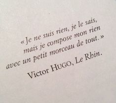 I am nothing and I know it but I handle my nothing with a little bit of everything French Words, French Quotes, Words Quotes, Me Quotes, Sayings, Great Quotes, Inspirational Quotes, Positive Mind, Some Words