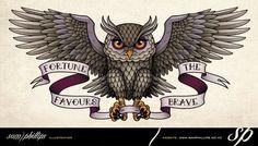 Sams Blog: Owl Flying Back Tattoo